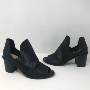 Chinese Laundry Black Leather Shoe Bootie
